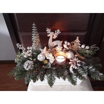 Stroik świąteczny bożonarodzeniowy choinka
