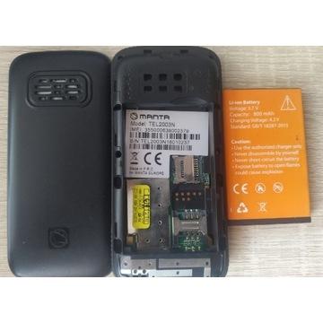 Manta TEL2003N Telefon dla seniora duże przyciski