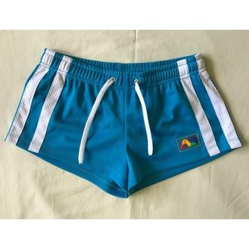 ADDICTED szorty krótkie spodenki niebieskie S