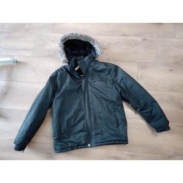 Męska kurtka zimowa XXL czarna wodoodporna kaptur