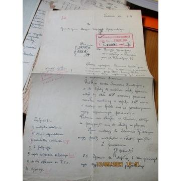 pismo KURATORIUM KRAKÓW 1934 życiorys ZAWIERCIE