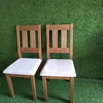 Krzesła dębowe 2 szt. z ekspozycji sklepowej