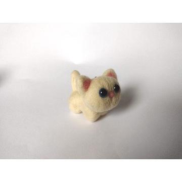 Brelok zawieszka kot kotek kremowy handmade
