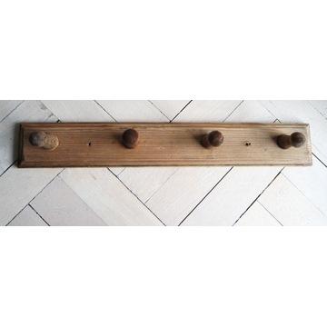 Stary drewniany wieszak ścienny przedwojenny
