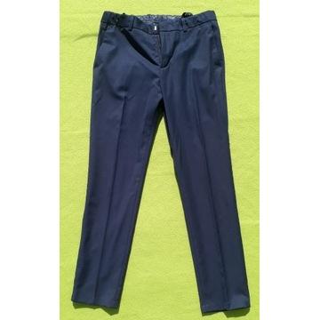Spodnie materiałowe H&M granatowe rozmiar 152