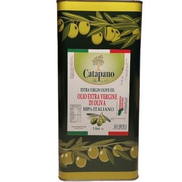 Włoska oliwa z oliwek 100% Extra Vergine puszka 5l