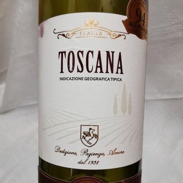 Butelka po włoskim winie Toscana