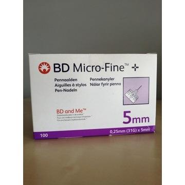 BD Micro Fine Plus 5mm Igły do penów