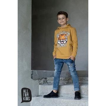 Jeansowe spodnie  All for kids rozmiar 104 / 110