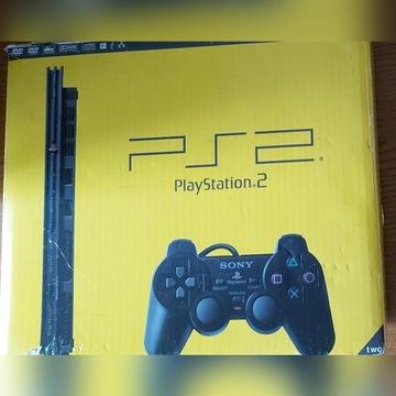 Konsola Sony PlayStation PS2 Slim,pady,gry,pudełko