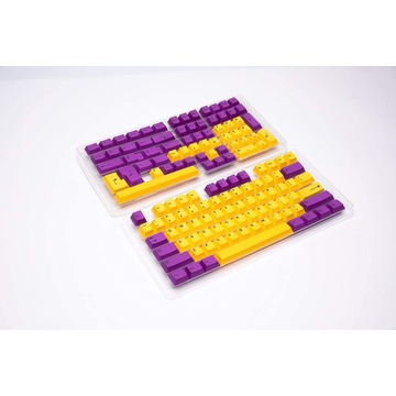HK gaming keycapy keycaps purple and yellow pbt