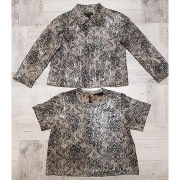 Bliźniak komplet żakiet + bluzka John Farah M