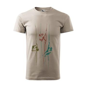 Koszulka męska z motywem wspinaczkowym M beż