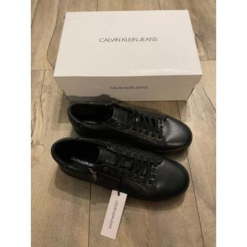 Buty trampki Calvin Klein Jeans czarne 45 nowe