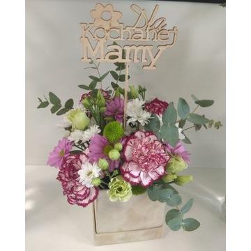 Flower Box Dzień Matki Mamy żywe kwiaty