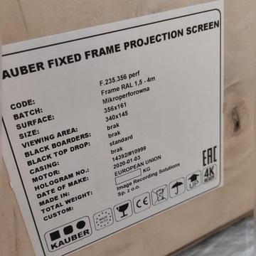 Ekran ramowy projekcyjny 340x145, 21:9, perforacja