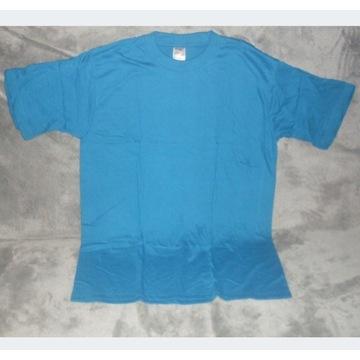 Koszulka T-shirt niebieska rozmiar XXL na nadruki