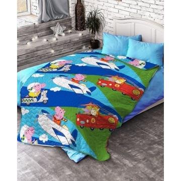 Narzuta na łóżko Świnka Peppa 140x200cm dziecięca