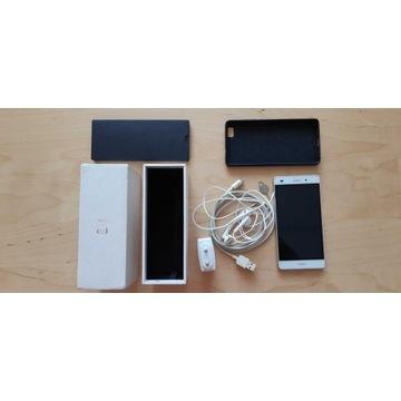 Huawei P8 Lite ALE-L21, biały, zestaw + etui
