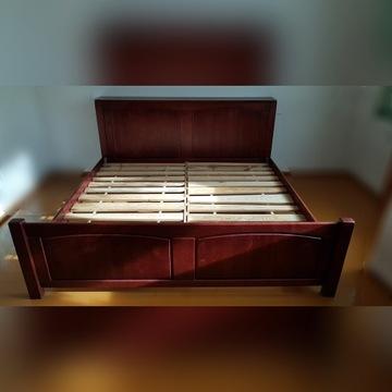 Łóżko do sypialni ze stelarzem i materacem