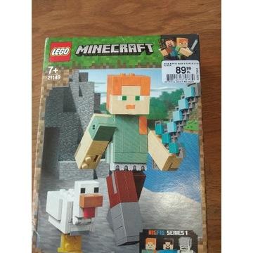 LEGO Minecraf, klocki BigFig - Alex z kurczakiem