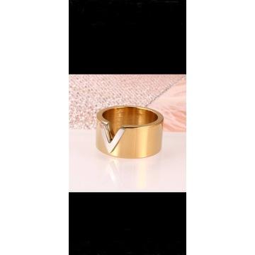 pierścionek złoty V