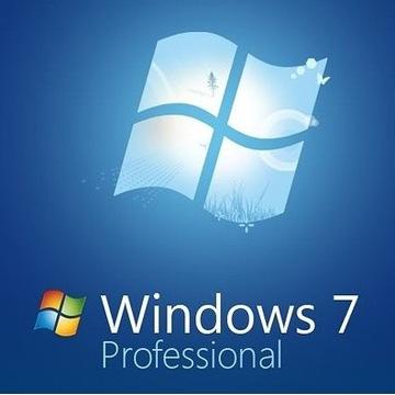 Microsoft Windows 7 Pro Professional 32/64b Klucz