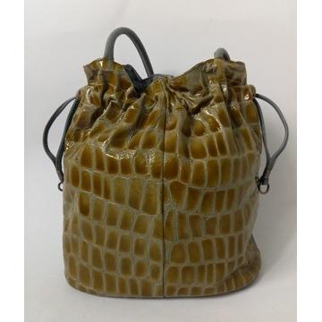 MIYACO torebka worek ze skóry naturalnej