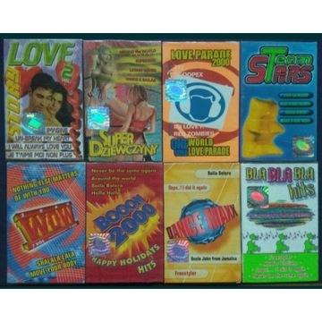 8 szt NOWYCH oryginalnie zapakowane kasety magneto