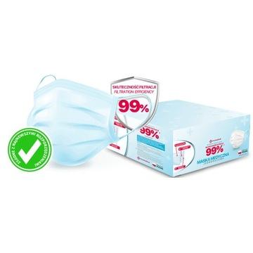 100 % polskie maseczki medyczne 130 sztuk