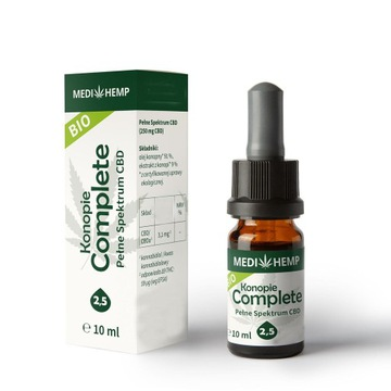 Medihemp 2,5 Complete BIO naturalny olejek CBD/CBD