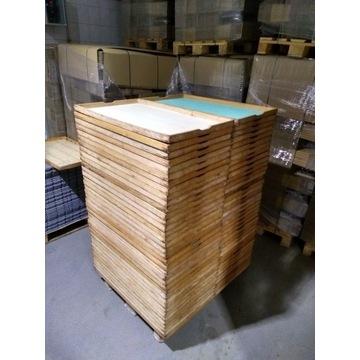 Kasty drewniane do garowania ciast.
