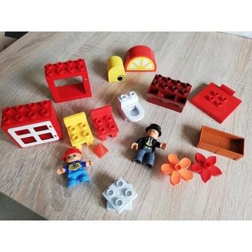 Zestaw LEGO DUPLO różne, krzesełka, WC, 2 ludziki
