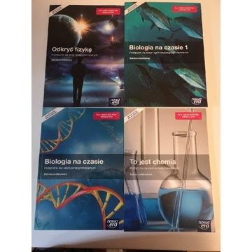 Komplet podreczników Fizyka Biologi Chemia