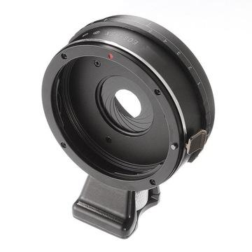 ADAPTER bagnetowy z przysłoną Sony E / Canon EOS