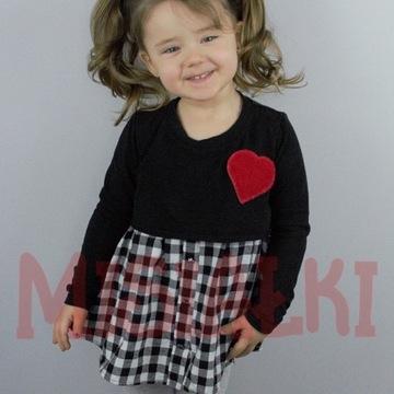 Bawełniana tunika dla dziewczynki. 134/140