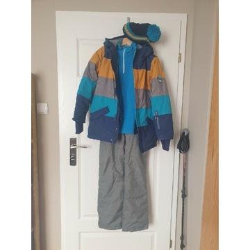 Zestaw narciarski, gogle 152/158