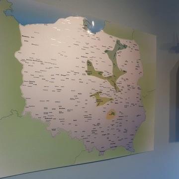 Lotnicza mapa zdrapka /// prezent dla pilota
