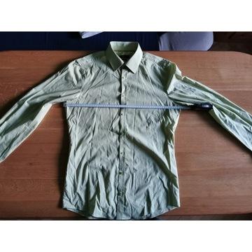 Koszula Venti w delikatny wzór jasnozielona R40