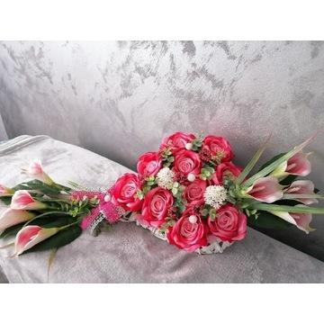 Piękne serce na grób Dzień Matki na cmentarz