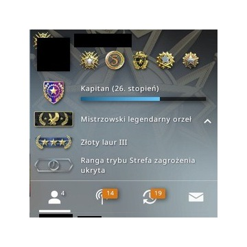 CS:GO-Konto steam z rangą Legendary Eagle Master.