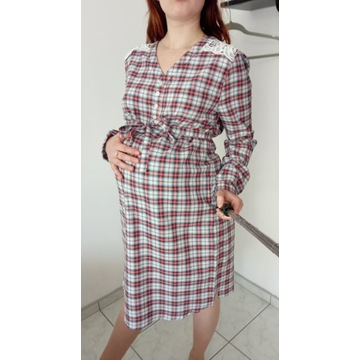 ESPRIT sukienka ciążowa r. 40 kratka