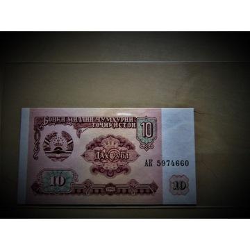 Banknot TADŻYKISTAN - 10 RUBLI - 1994r. UNC.