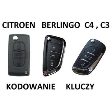 Kodowanie kluczy Citroen Berlingo C4 , C3