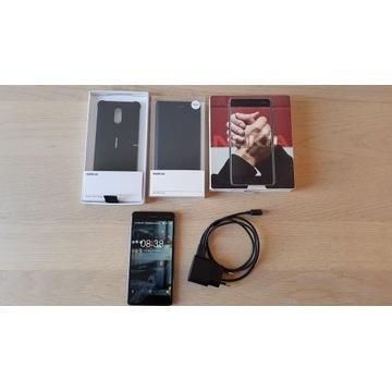 Nokia 6 Dual SIM czarny + etui, akcesoria