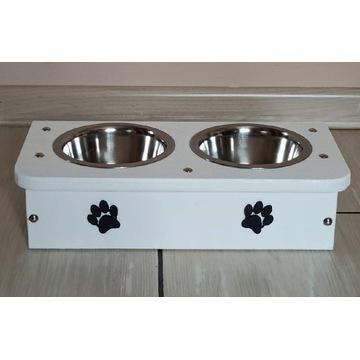 Bufet dla psa kota stylowy stojak na miski 0,45