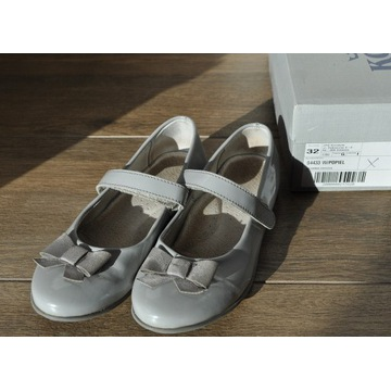 Kornecki balerinki pantofle jasnoszare rozm. 32
