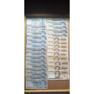 Zestaw 30 sztuk banknotów PRL