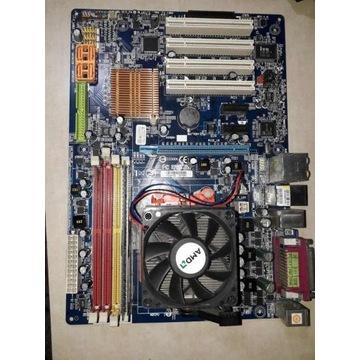 Płyta Główna GIGABYTE GA-M61P-S3 + proc. AMD Athlo