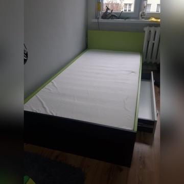 Łóżko z szufladą na pościel + materac